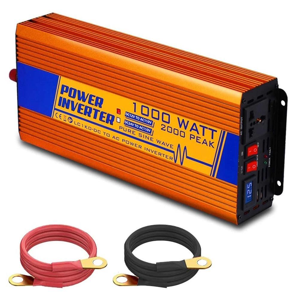 1000W Off Grid Pure Sine Wave Inverter 12V to 110V/220V