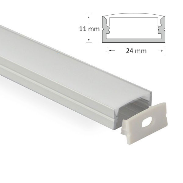 11mm Recessed/Surface Mounted Extrusion