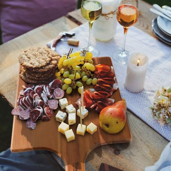 """17""""x11"""" Wood Charcuterie Board Serving Tray"""