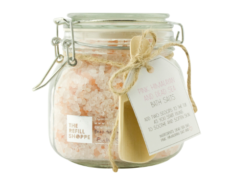 25 oz Pink Himalayan and Dead Sea Salts Bath Salt Set