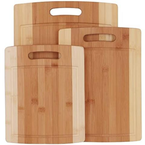 3 Piece Natural Organic Bamboo Cutting Boards