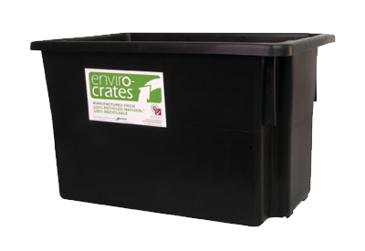 68L STACKING NESTING CRATE