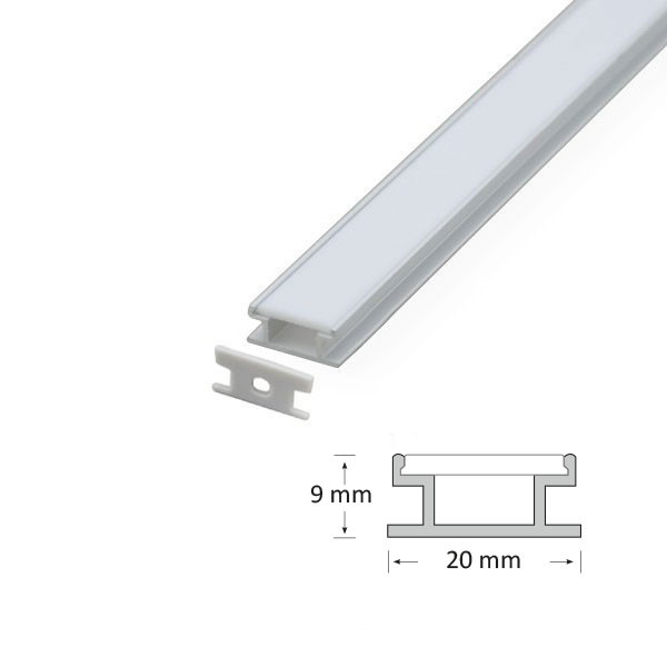 9mm Deep Recessed Extrusion