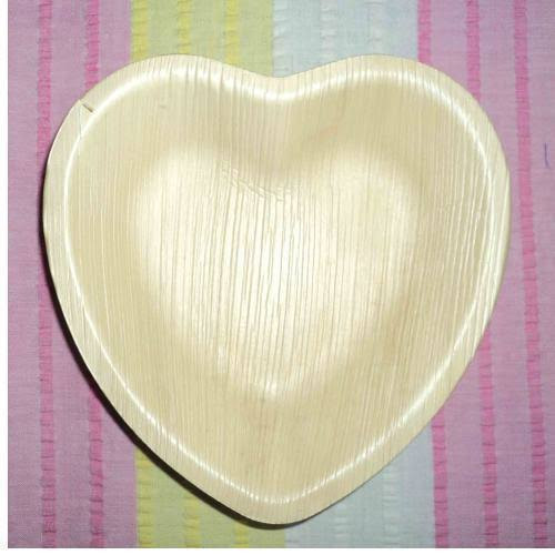 Areca Leaf Heart Shapes Plates