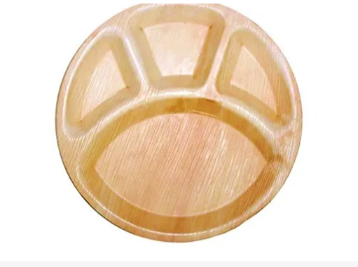 Areca Leaf Partition Plates Round Partition 12 inches