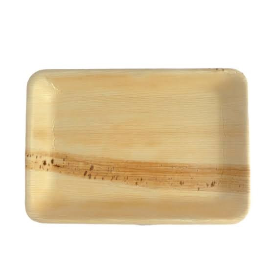 Areca Leaf Plain Rectangle Plates