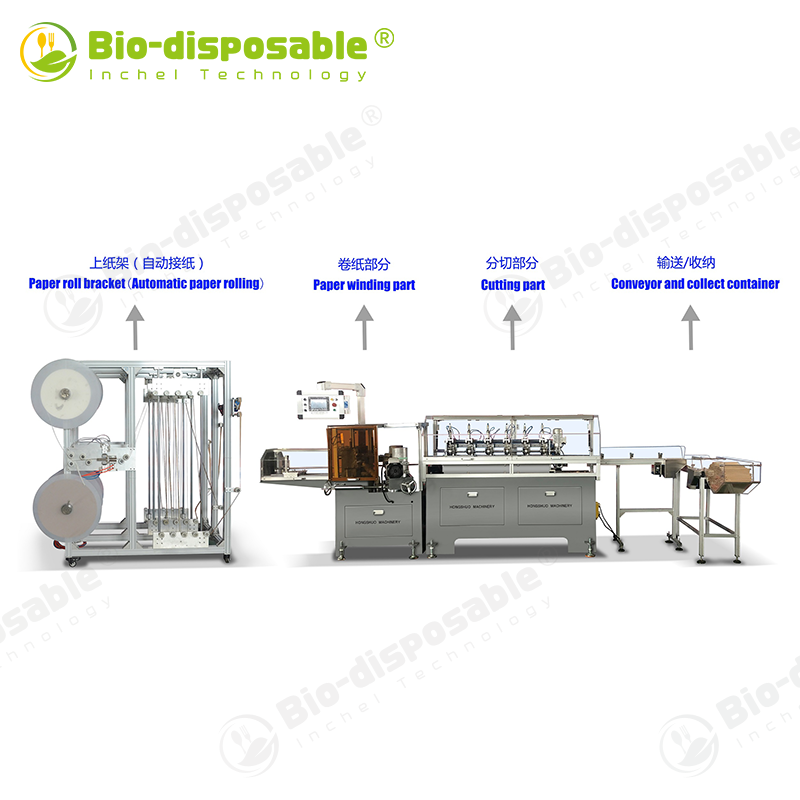 Automatic Non-adhesive Paper Straw Making Machine