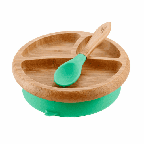 Avanchy Baby Bamboo Suction Plate + Spoon