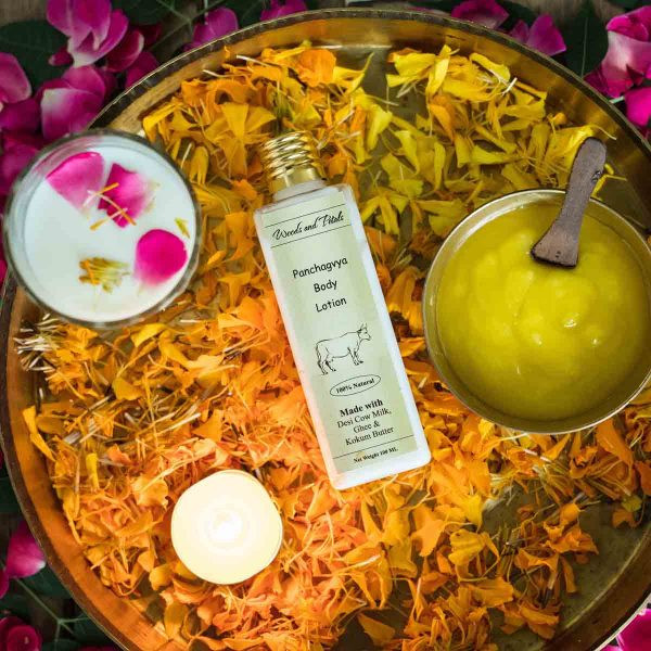 Ayurvedic Skin & Hair care ritual ( Body lotion + Panchgavya Face pack + Triphla Neem Face Mask )