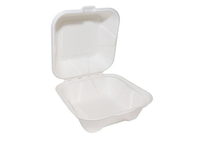 Bagasse Burger Box Square