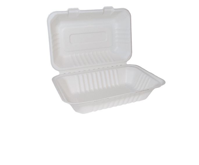 Bagasse Clamshell Large