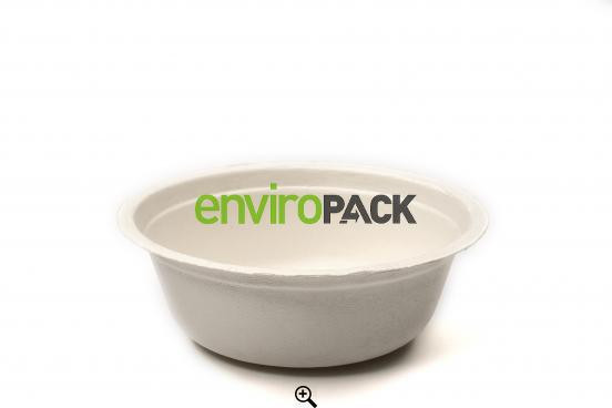 Bagasse Round Compostable Bowl 16oz White