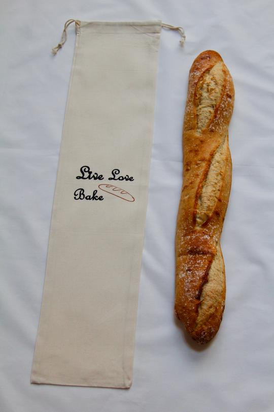 Baguette Bread Muslin Bag