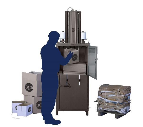 Balers for Cardboard Waste - QCR 205TS Waste Baler