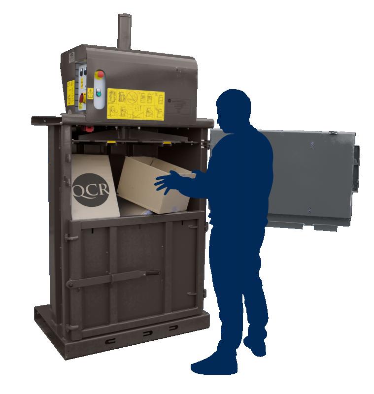 Balers for Cardboard Waste - QCR 450 Waste Baler
