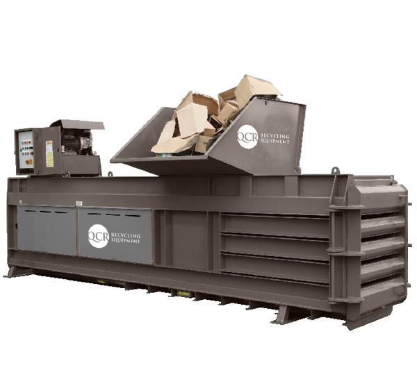 Balers for Cardboard Waste - QCR 500HZ Horizontal Waste Baler