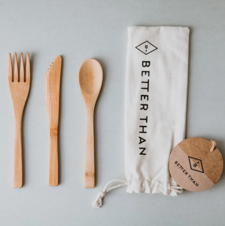 Bamboo Cutlery With Travel Pouch