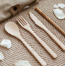 BAMBOO KNIFE - SPOON - FORK