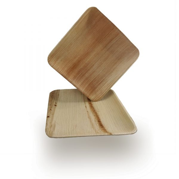 Bamboo Look Palm Leaf Plates