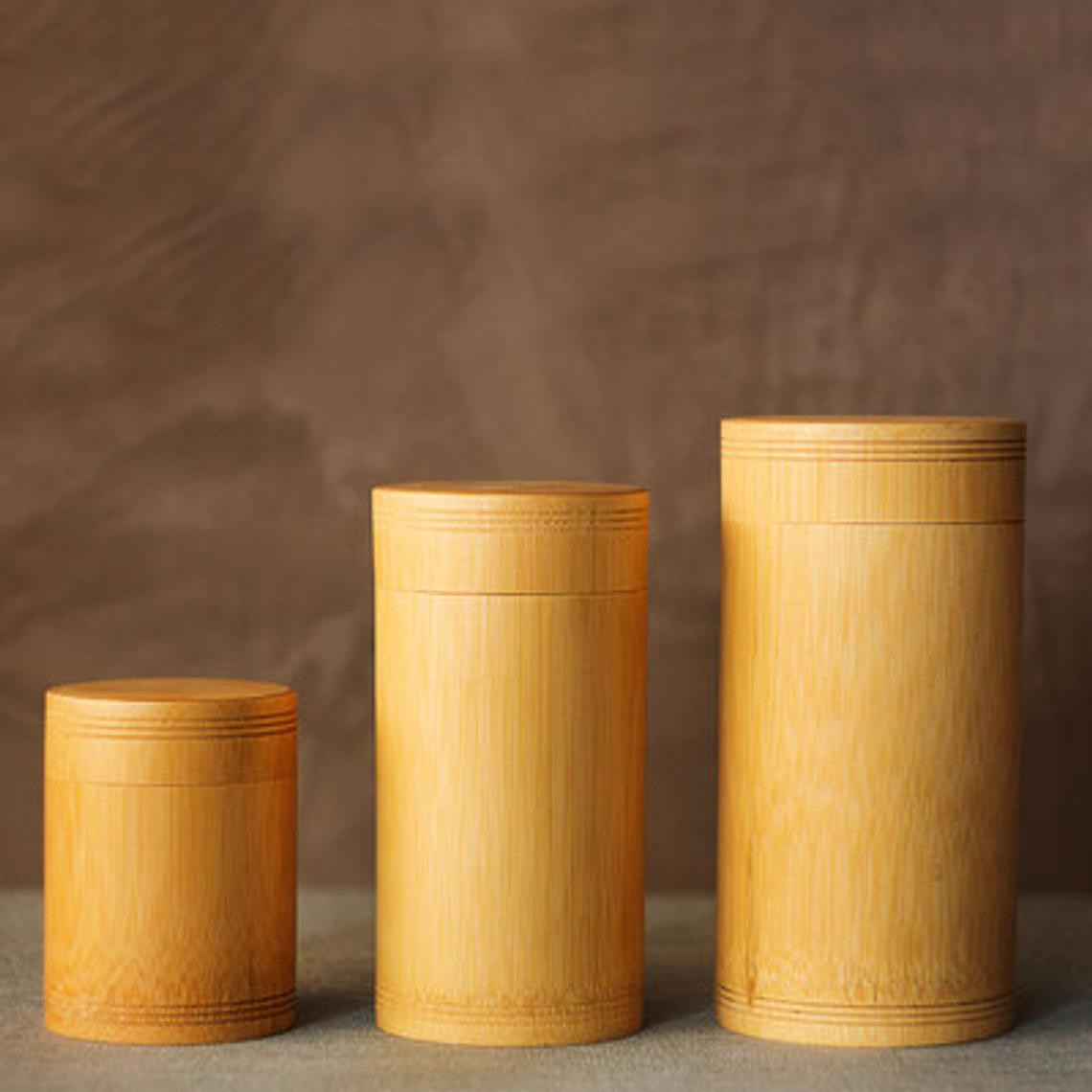 Bamboo Storage Jars