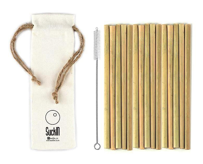 Bamboo Straws- Pack of 15
