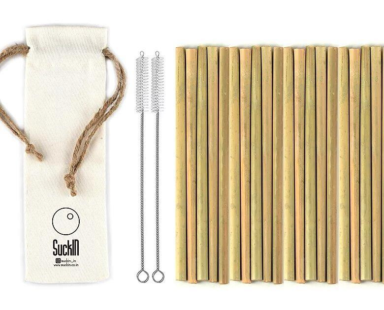Bamboo Straws - Packet of 20