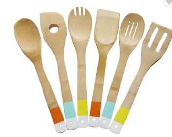 Bamboo Wood Cooking Utensils