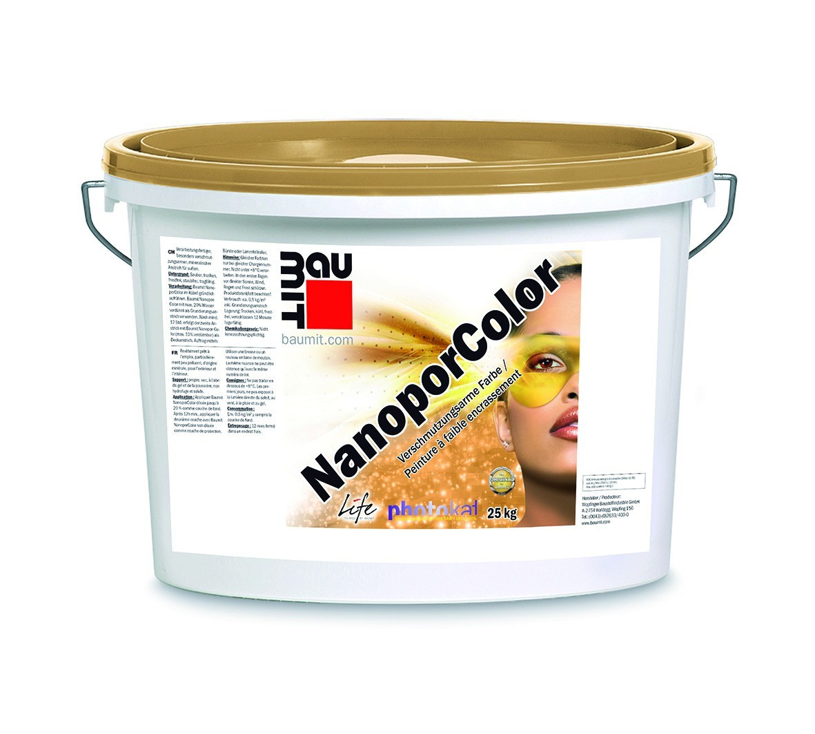 Baumit NanoPor Colour Paint, Self Cleaning
