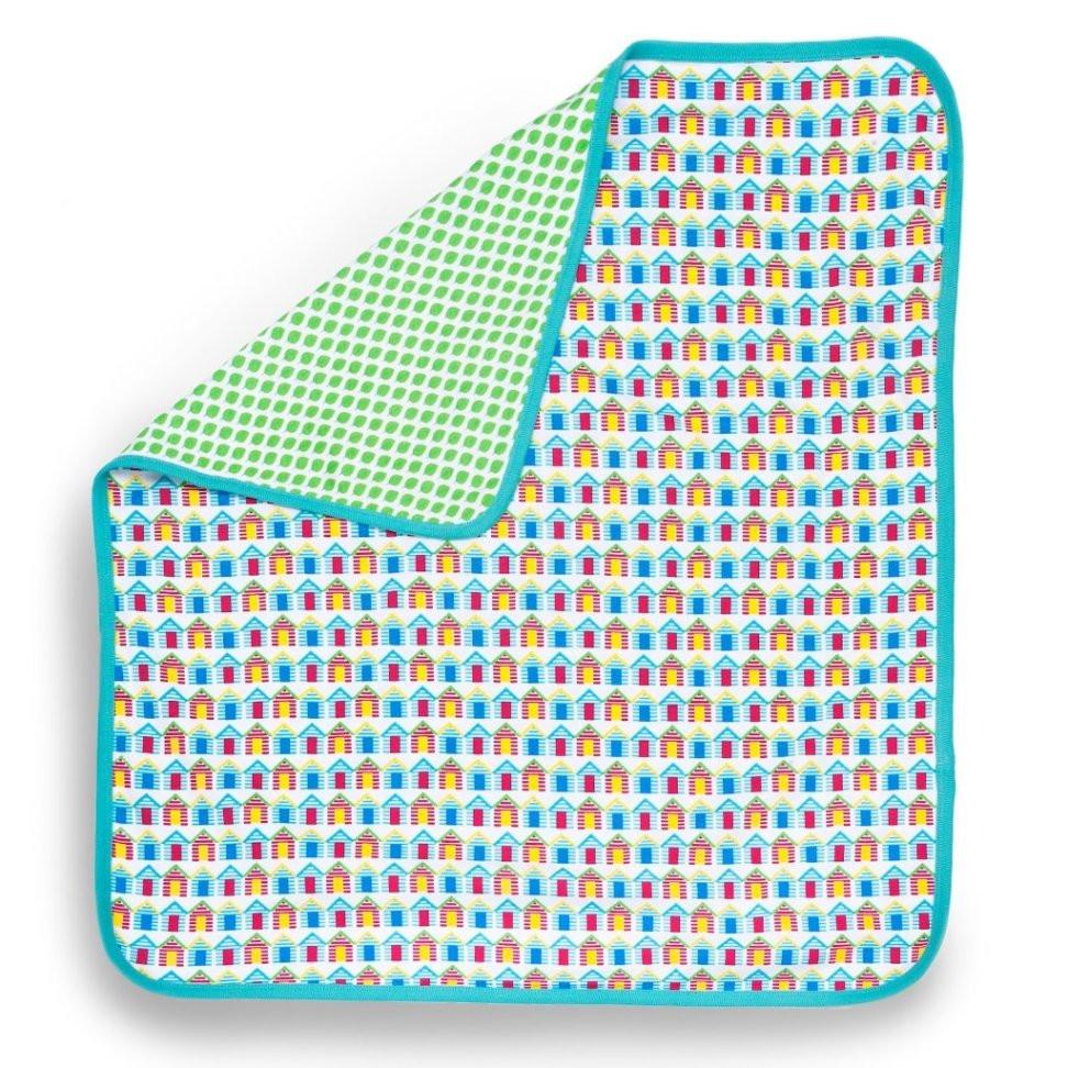 Beach Huts Organic Baby Blanket