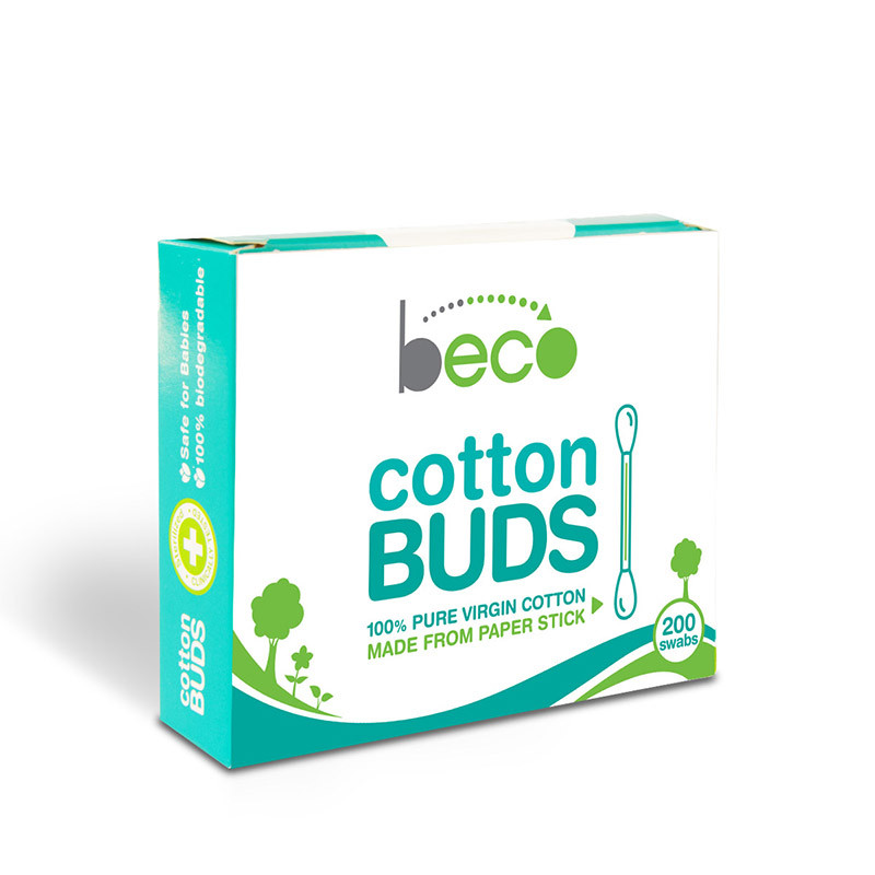 Eco-friendly Cotton Buds with Paper Stick