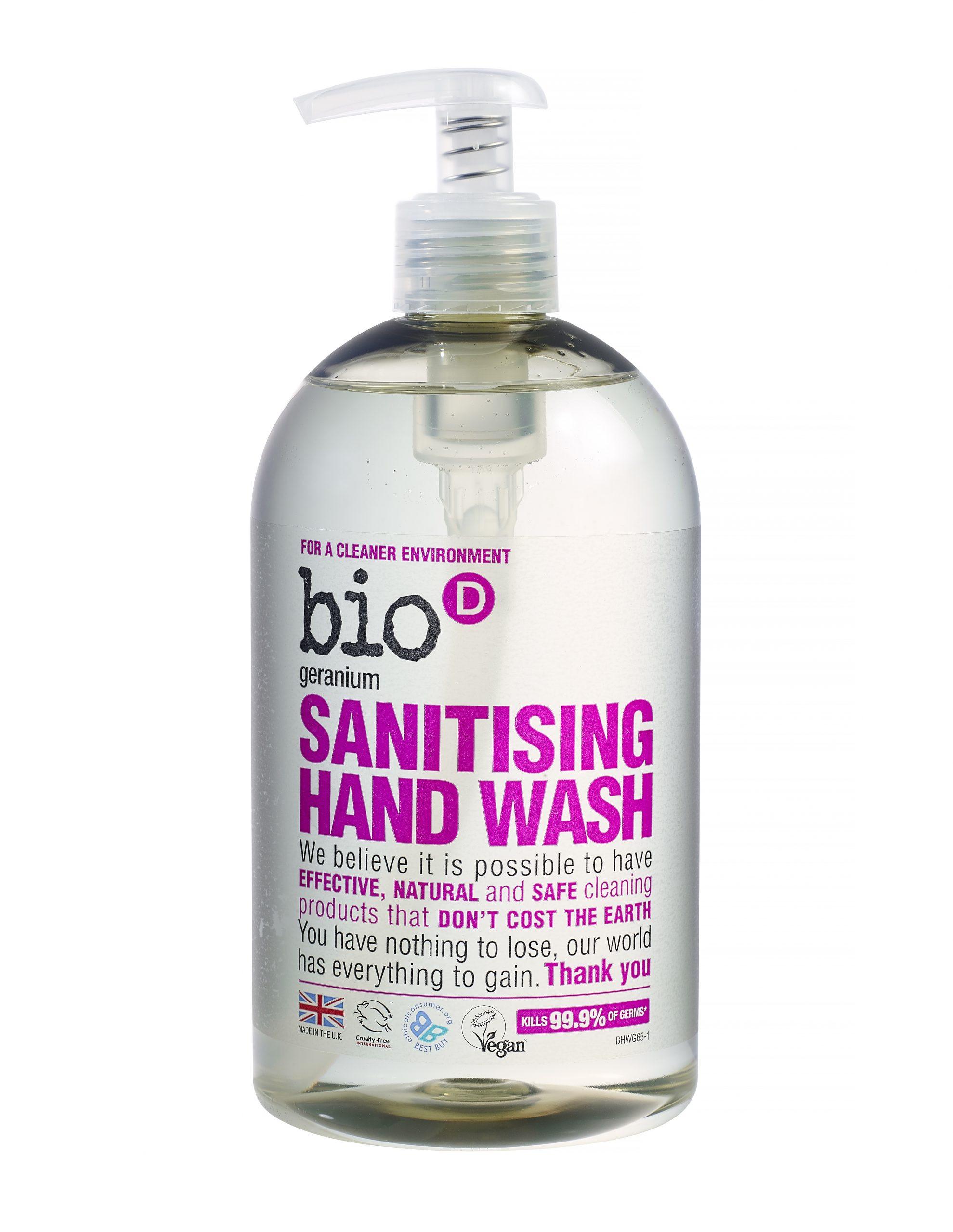 Bio-D Geranium Sanitising Hand Wash