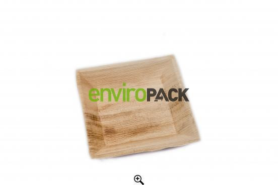 Biodegradable Cuadra Palm Leaf Plate 18x18cm Natural