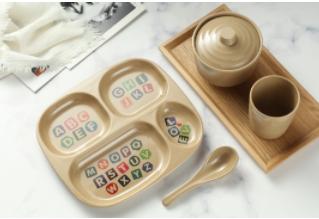 Biodegradable Rice Husk Material Several Types Plate For Children