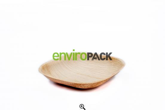 Biodegradable Round Palm Leaf Bowl 13cm Natural