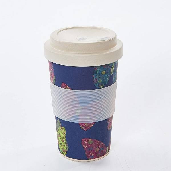 BLUE TROPICAL FISH BAMBOO CUP PACK OF 3