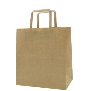 Brown Kraft Folded Handle Paper Bags #3