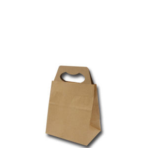 Brown Kraft Paper Bags With Paper Handle (Reinforced Base)