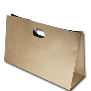 Brown Paper Bags With Die-Cut Handle
