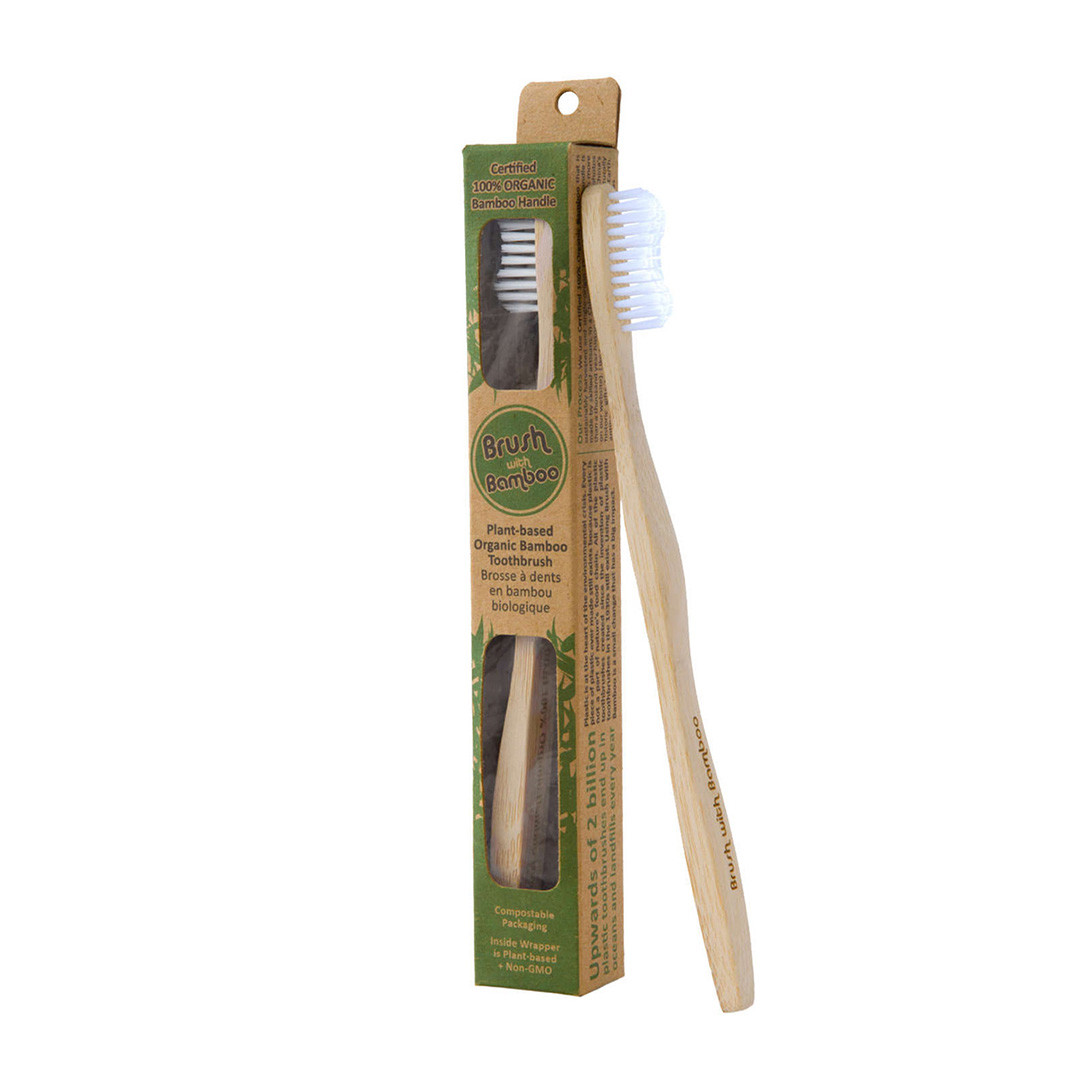 Brush With Bamboo – Organic Adult Bamboo Tooth Brush