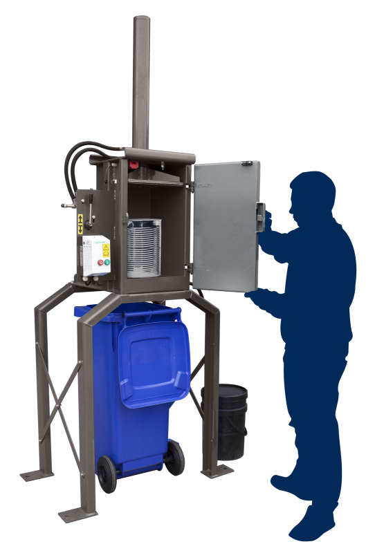 Can, Tin & Drum Recycling - QCR CP30HDXL Can Press