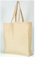Canvas Carrier Bags – Long Handle (Gusseted)