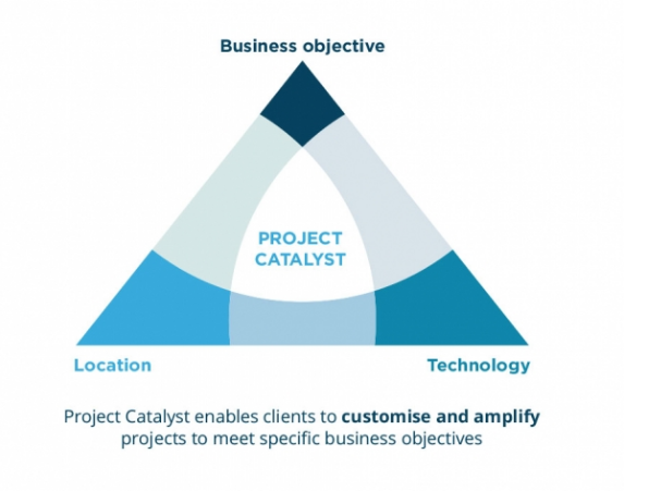 Catalysing projects to meet specific business goals