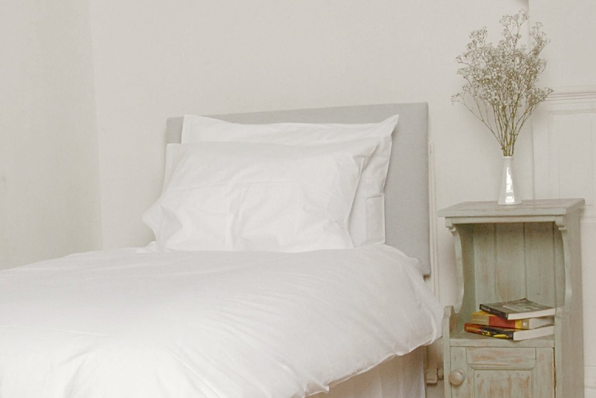 Classic White Sateen Organic Pillowcase