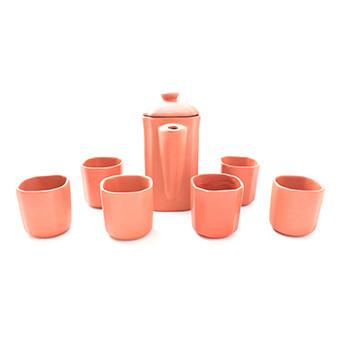 Clay Jar set of 6+1