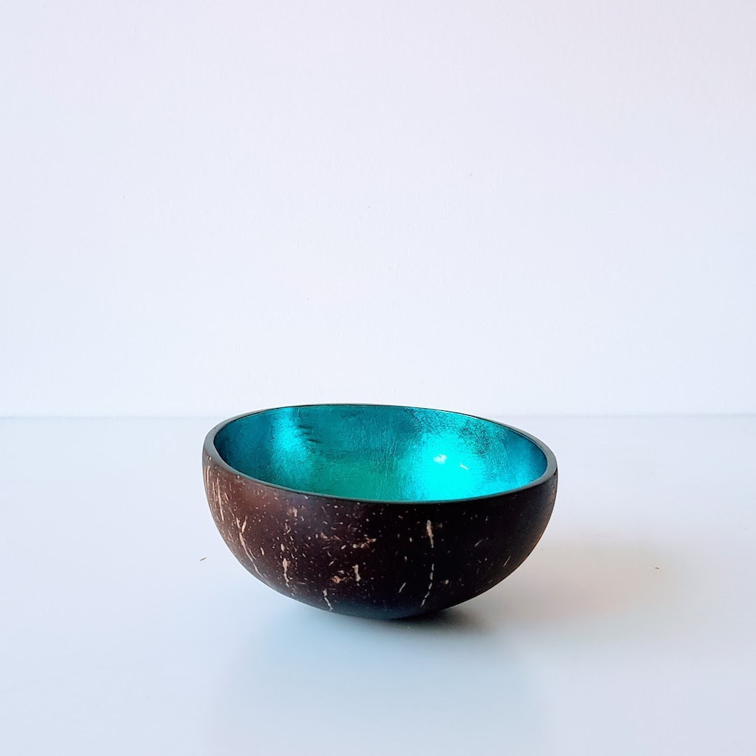 Coconut Bowl Metallic Blue