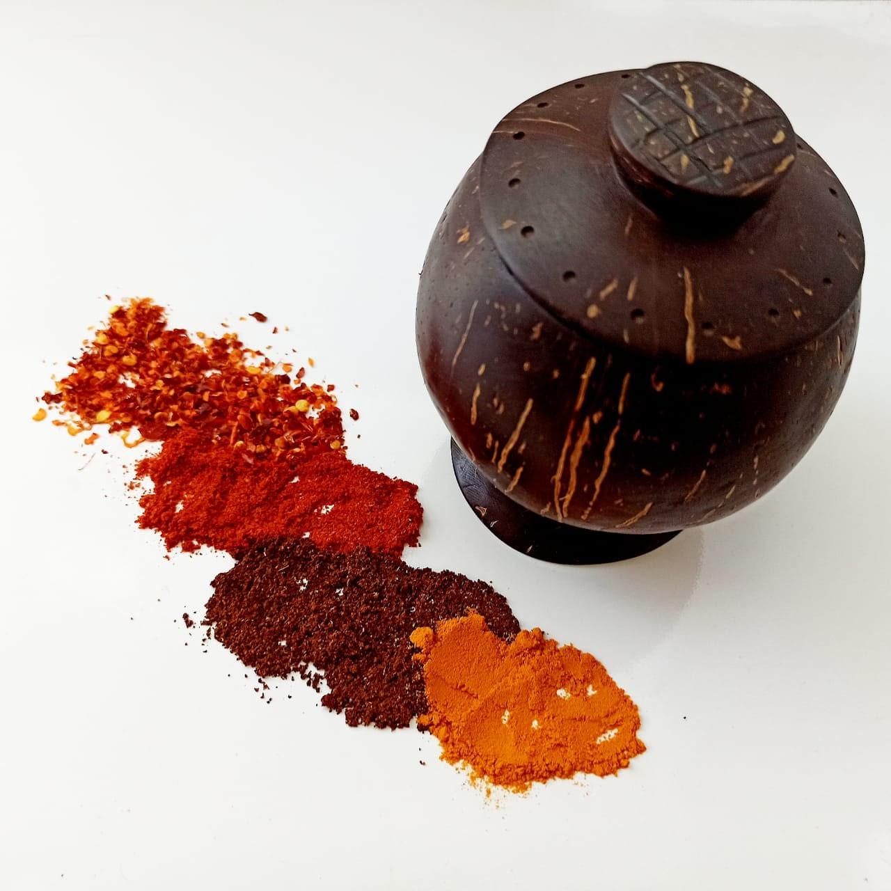Coconut Shell Spice Bottle