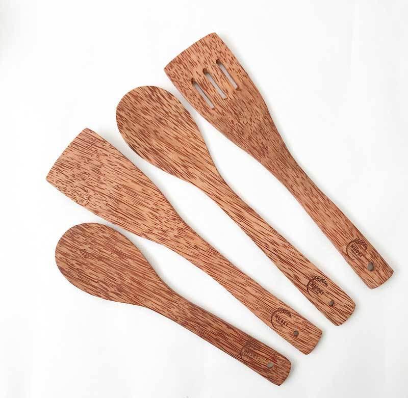 Coconut wood cooking utensils