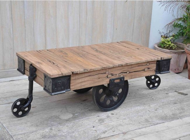 Coffee Table Cart 120x50x70cmh