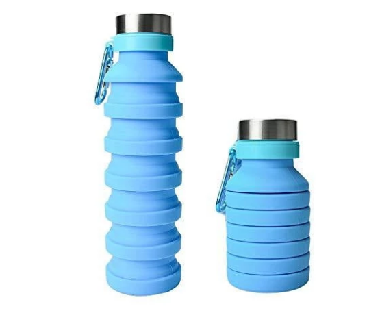Collapsible Silicone Water Bottle Set