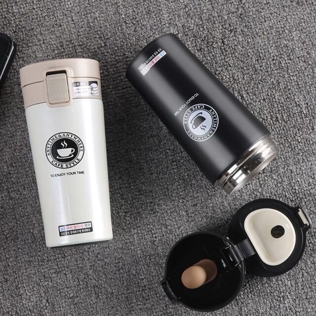 Compact Stainless Steel Coffee Thermos